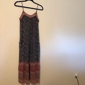 Xhilaration Maxi Boho Floral Dress Size Small
